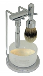 Merkur Polished Chrome Adjustable Futur Razor Five Piece Set