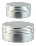 Aluminum Soap Bowl with Screw on Lid - sale for slight imperfections