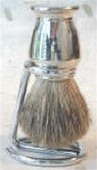 Solid Metal and Nickel Finish Pure Badger Brush