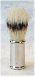 Boar Bristle Shaving Brush with Nickel Handle