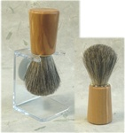 Pure Badger OIive Wood Tapered Handle Brush