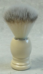 Synthetic Fibre Shaving Brush - Faux Ivory Handle