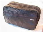 Soft Leather Toiletry Travel Bag
