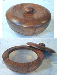 Oak Wood Lather Bowl with Lid