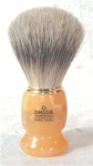 Omega Variegated Butterscotch Handle - Tapers Badger Bristle