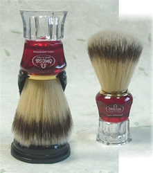 Omega Sintetico Brush - Red and Clear Handle