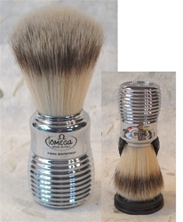 Omega Sintetico Brush - Silver Hard Plastic Handle
