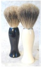 Slim Line Pure Badger Brush with Black Handle