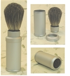 Badger Greys Travel Brush with Aluminum Tube