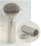 Badger Fine Taper Travel Brush with Nickel Tube