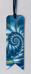 Bookmarks with Banner Cut Motif and Abstract Image