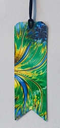 Bookmarks with Banner Cut Motif and Abstract Image - 2
