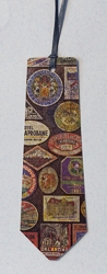 Bookmarks with Tie Cut Motif and Vintage Image