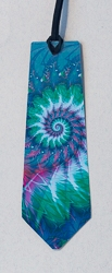 Bookmarks with Tie Cut Motif and Abstract Image - 2
