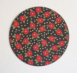 Round Designer Paper Coaster with Cork Backing - 02