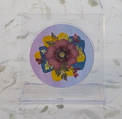 Real Pressed Flowers on Acrylic Easiel Curio Display - ac-02