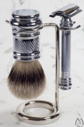 Polished Chrome Silver Tip Three Piece Set