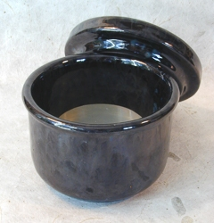 Chrystal Glaze Black Marble Ceramic Soap Bowl with Lid