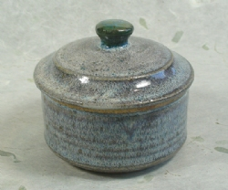Chrystal Glaze Fired Ceramic Soap Bowl with Lid