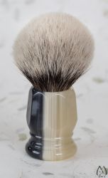 Faux Horn Handle Silver Tip Brush