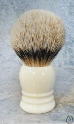 Faux Ivory Handle Silver Tip Brush
