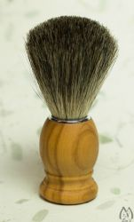 Pure Badger OIive Wood Curved Handle Brush