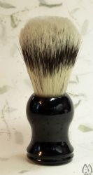 Boar Bristle Brush - black acrylic handle