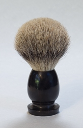 Genuine Black Horn Handle Silver Tip Shaving Brush