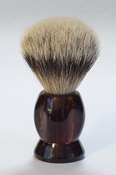 "Faceted Havanna Handle Brush with ""Silver Tip"" Bristles"