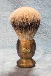 Omega Variegated Handle Super Badger Shaving Brush - 6214