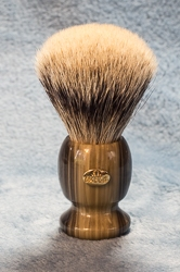 Omega Variegated Handle Super Badger Shaving Brush - 6215