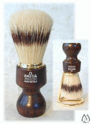 Omega Ovangol Wood Handle Boar Brush
