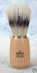Omega Boar Brush with Wooden Handle