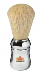 Omega Boar Brush - Silver Color Handle