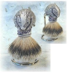 Badger Head Shaving Brush with Holder