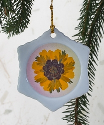 Real Pressed Flower Handmade Snowflake Shaped Ornament - sf-03