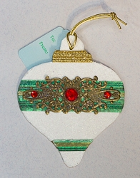 Ornament Shaped Handmade Gift Tag Ornament - 03