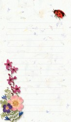 Ladybug and Pressed Flower Note Pad