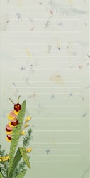 Caterpillar and Pressed Flower Note Pad