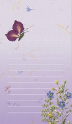 Butterfly and Pressed Flower Note Pad