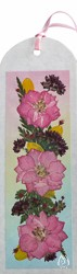 Real Pressed Flower Bookmark with Pink Larkspur