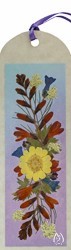 Real Pressed Flower Bookmark with Montbretia