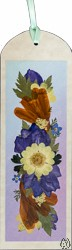 Handmade Pressed Flower Bookmark with Marigold