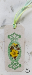 Handmade Pressed Flower Bookmark with Yellow Buttercup - bk-7