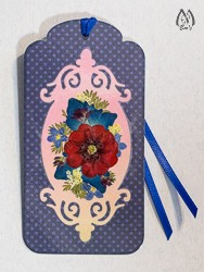 Handmade Pressed Flower Bookmark with Potentilla