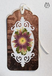 Handmade Pressed Flower Bookmark with Columbine