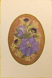 Real Pressed Flower All-Occasion Card with Larkspur - 9