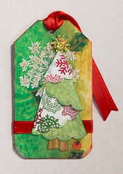 Holiday Tag with Origami Fold Christmas Tree - 02