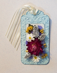 Everlasting Flower Holiday Tag Ornament - 02