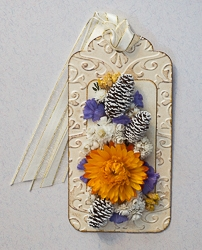 Everlasting Flower Holiday Tag Ornament - 06